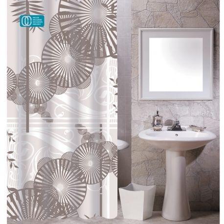 Msv - Rideau de douche polyester 180x200 ombrelles marron - pas cher ...