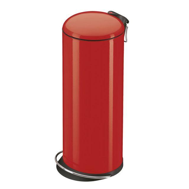 Hailo - Poubelle de cuisine à pédale ronde en métal capacité 26L ...