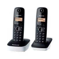 Panasonic - Kx-tg1612FRW Téléphone Duo sans fil Dect sans répondeur Blanc