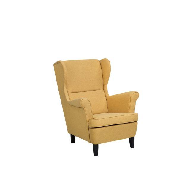 BELIANI Fauteuil en tissu jaune ABSON - jaune