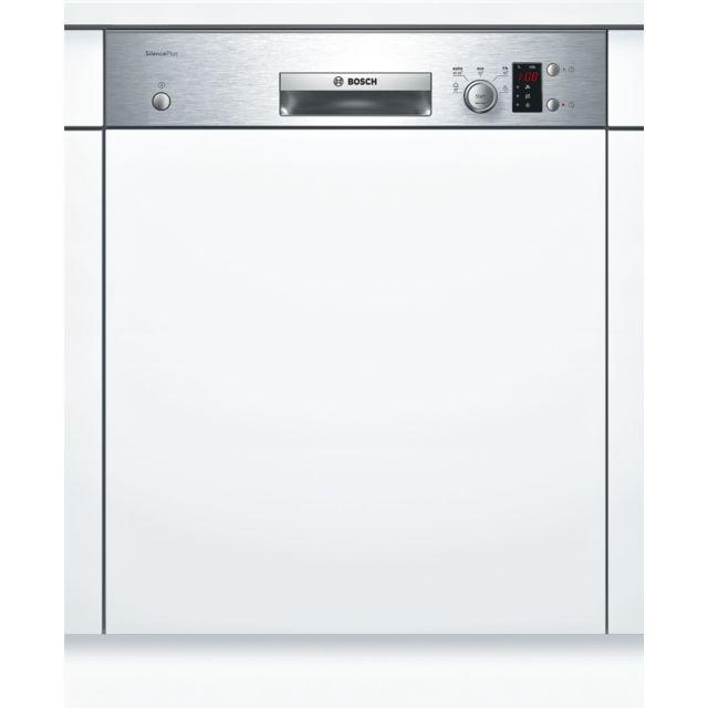 Bosch lave-vaisselle 60cm 12c 48db a+ intégrable avec bandeau inox - smi25as00e
