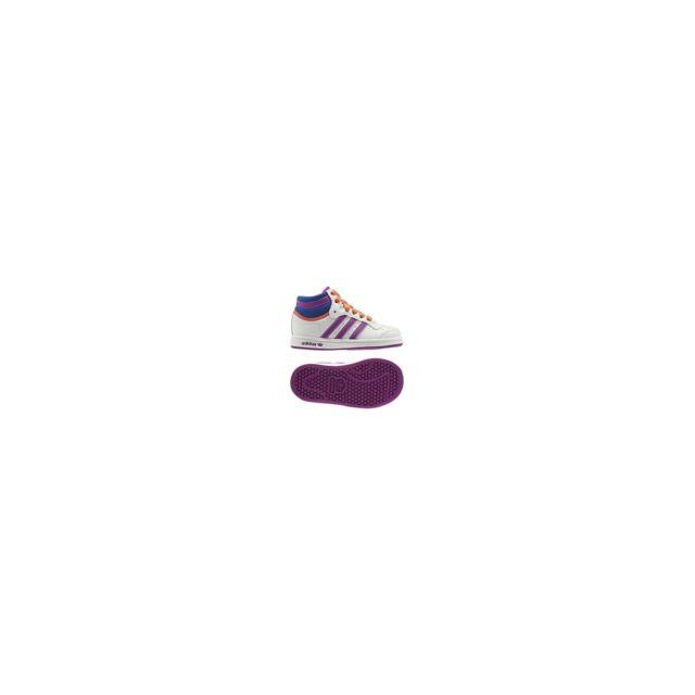best service 9e513 4f757 Adidas - Topten Hi I - Q23466 - Age - Bebe, Couleur - Blanc,