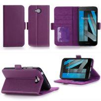 Xeptio - Huawei Honor 6A : Housse Portefeuille luxe violette Cuir Style avec stand - Etui violet coque de protection smartphone 2017 /2018 avec porte cartes - Accessoires pochette : Exceptional case