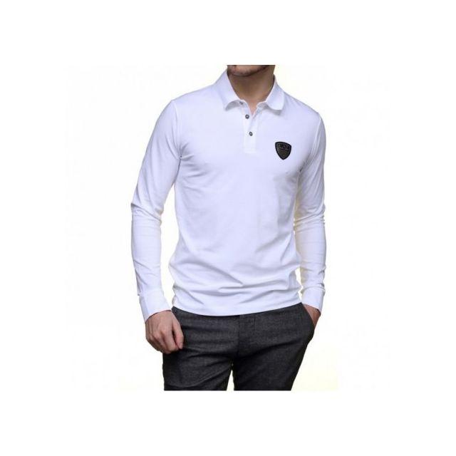3095c88a448a1 Armani - Tee Shirt Manches longues Blanc Homme Emporio Multicouleur ...