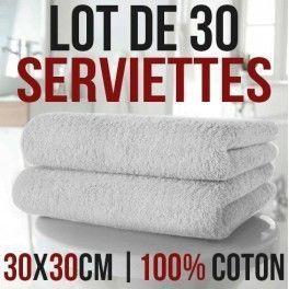 desineo lot de 30 serviettes pour les mains 30 x 30 cm 100 coton pas cher achat vente. Black Bedroom Furniture Sets. Home Design Ideas