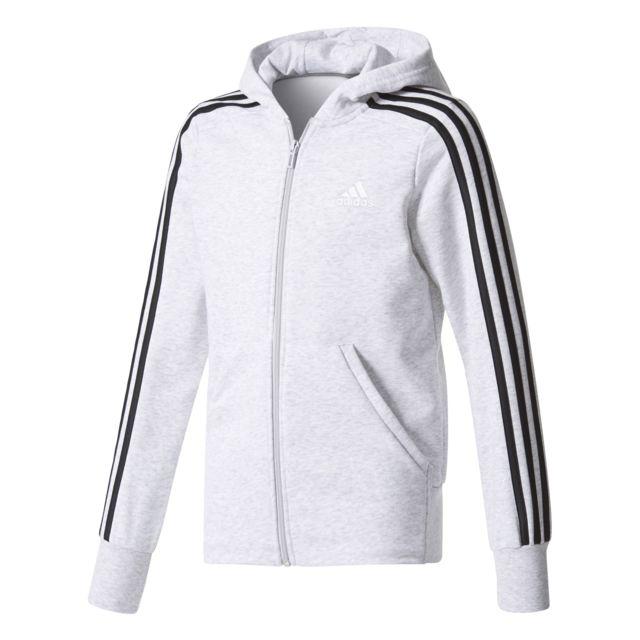 3e99298f833f8 Adidas - Veste à capuche junior Essentials 3-Stripes - pas cher ...