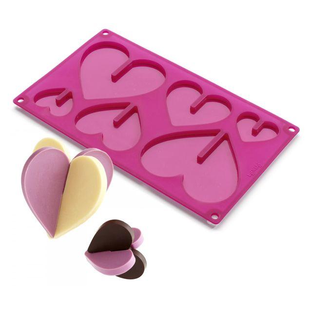 LEKUE moule silicone coeur en 3d - 0212300r15m017