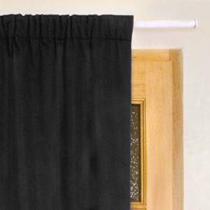 eminza rideau de porte thermique 100 x h220 cm igloo noir pas cher achat vente rideaux. Black Bedroom Furniture Sets. Home Design Ideas