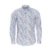 6b548bd2ac3e Antony Morato - Chemise cintrée en coton blanc à motifs géométriques bleus  et noirs