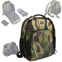 Duragadget - Sac à dos camouflage pour Nikon D5000, D5100, D3100, D600, D800