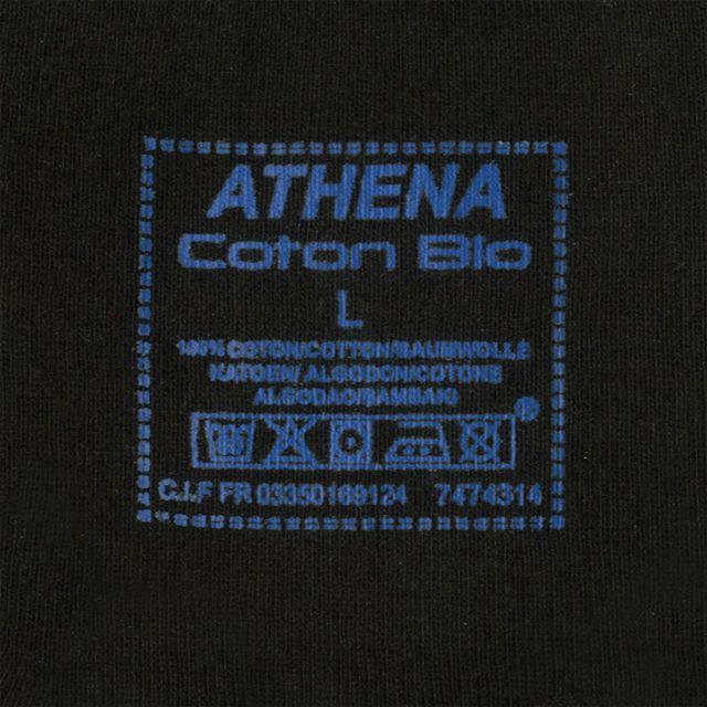 Athena T-SHIRT MC COL V X2 Lot de 2 Tee shirt noir col V homme Coton Bio Athena.
