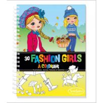 Sentosphère - Carnet de coloriage : Fashion Girls