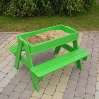 Amca by Trigano - Table de jardin enfant pique nique Bois + bac à sable Picsand