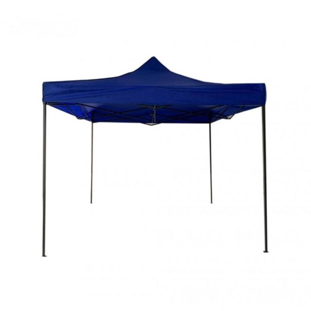 Mobili Rebecca Gazebo d'extérieur 3 x 3 bleu pliable et réglable