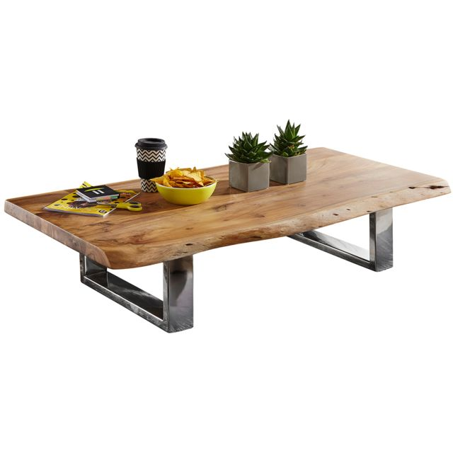 Comforium Table Basse Design En Bois Massif Dacacia Avec