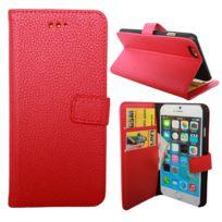 Lapinette - Etui Housse Portefeuille Pour Apple Iphone 8 Plus - Rouge