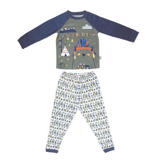 42d872033ef77 Petit Beguin - Pyjama garçon manches longues Adventure - Taille - 4 5 ans  104 110 cm Multicolore - pas cher Achat   Vente Pyjamas - RueDuCommerce