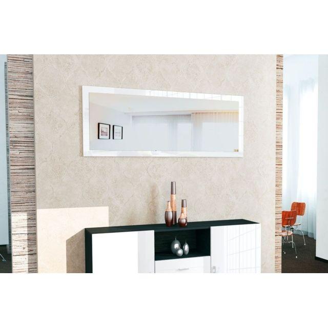 Mpc Miroir laqué Blanc 139 cm