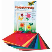 Folia - papier vitrail electrostatique 23x33 - lot de 10 feuilles