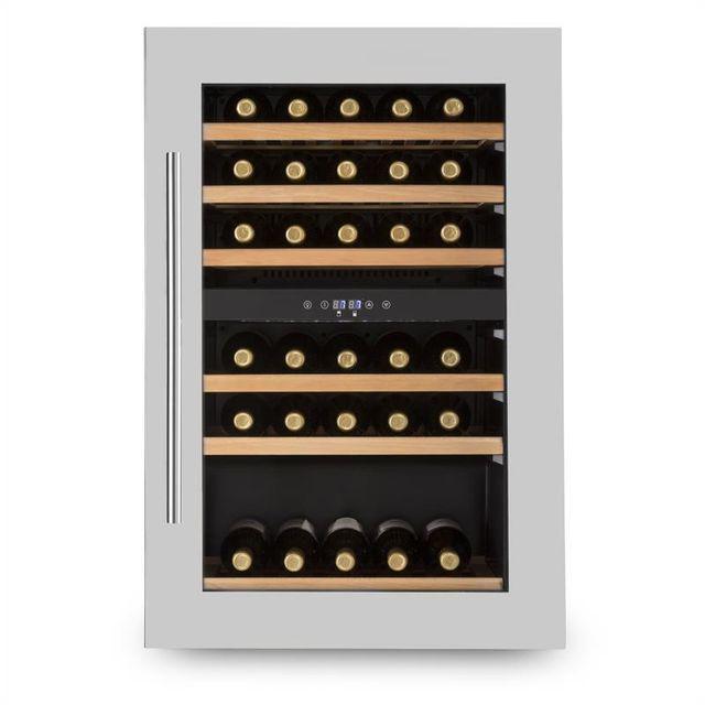 KLARSTEIN Vinsider 35D Cave à vin encastrable 128L 41 bouteilles porte inox