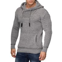 Violento - Pull capuche homme fashion Pull Co6 gris clair
