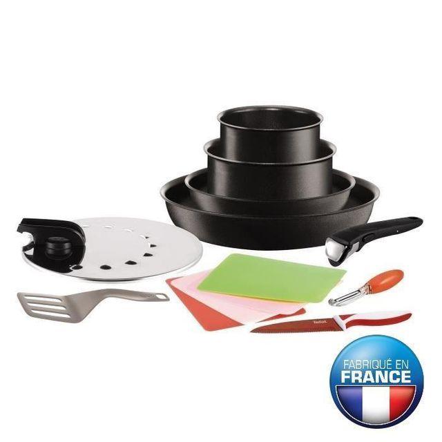 tefal - batterie de cuisine 10 pièces - ingenio perform tcoach