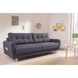 bobochic oslo canap 3 places convertible 215x90x90cm gris fonc 215cm x 90cm x 90cm. Black Bedroom Furniture Sets. Home Design Ideas