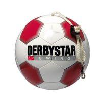 Derbystar - Swing Ballon de football avec corde Blanc/rouge, Taille 5