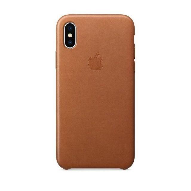 APPLE iPhone X Leather Case - Havane
