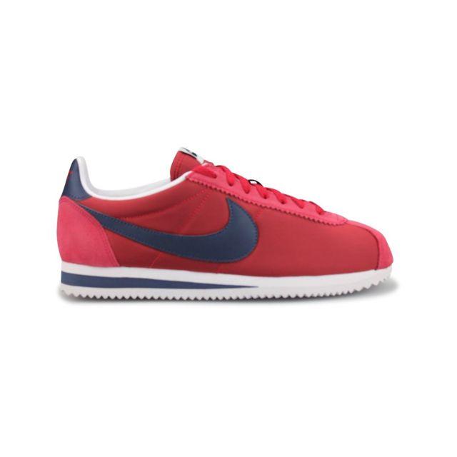 Nike Classic Cortez Nylon Rouge 42 1 1 1 2 pas cher Achat   Vente 679839