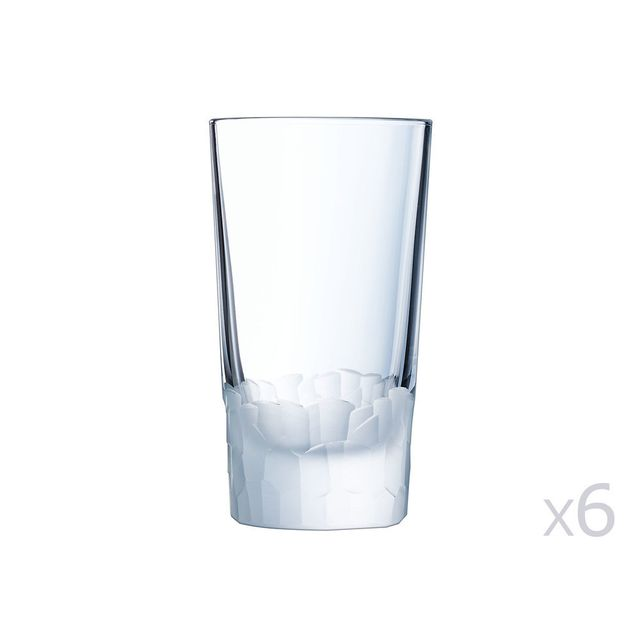 Cristal D'ARQUES Gobelet en cristallin 33cl - Lot de 6 Intuition