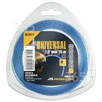 McCulloch - Accessoire cb & deb Fil nylon 1,5 mm x 15 m bruit réduit Nlo011 000577616311