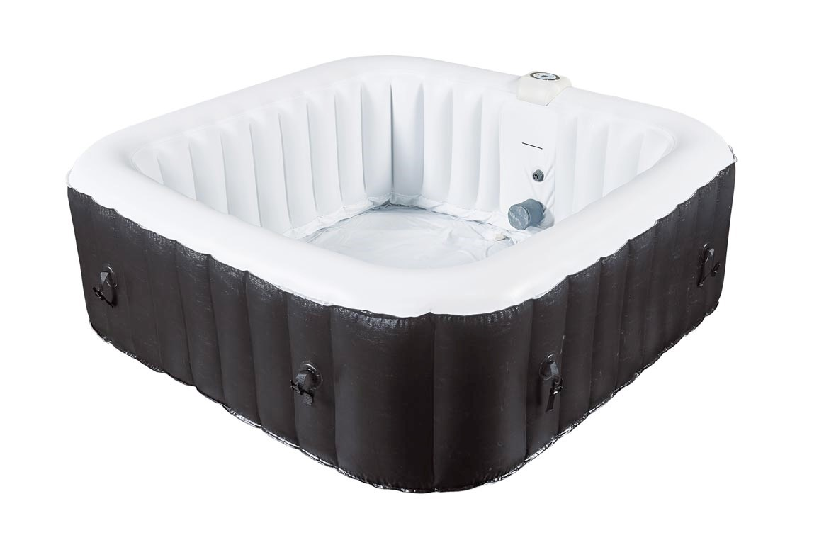 Rue du commerce spa gonflable carr water health 3 4 for Piscine coque carre
