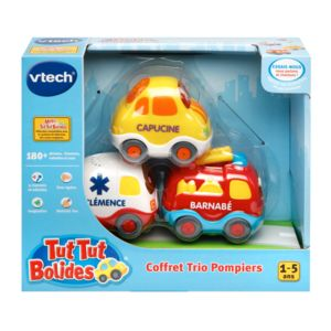 vtech tut tut bolides coffret trio pompiers pompiers ambulance citadine 205805 pas. Black Bedroom Furniture Sets. Home Design Ideas