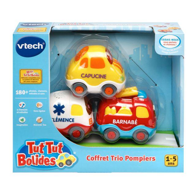 VTECH Tut Tut Bolides - Coffret trio Pompiers Pompiers + Ambulance + Citadine 205805