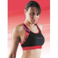 Zsport - Brassiere Dynamic Noir Et Corail Sous-Vêtement Technique Femme