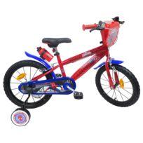"""Marvel - Vélo 16"""" Licence """"Spiderman"""" pour enfant de 5 à 7 ans avec stabilisateurs à molettes"""