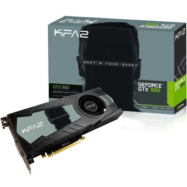 KFA2 - GeForce GTX980 4Go DDR5 256 bit DVI-I / HDMI / 3 DP 1.2