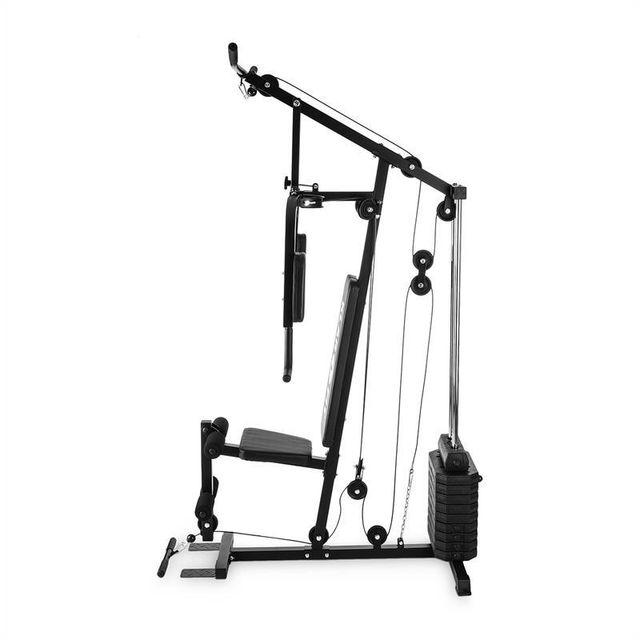 KLARFIT - Strongbase Station de musculation multifonction tire-câble 45kg acier no