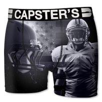Capster'S Official - Boxer Homme Microfibre Fus Noir Gris