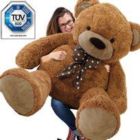 Rocambolesk - Superbe Grand nounours géant Ours en peluche Xxxl Teddy Bear 175 cm diag - brun Neuf