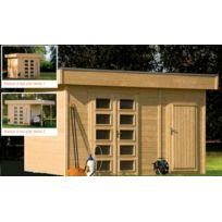 Lekingstore - Maison en Bois à Toit Plat 250 x 250 cm 6.25 m² Venlo