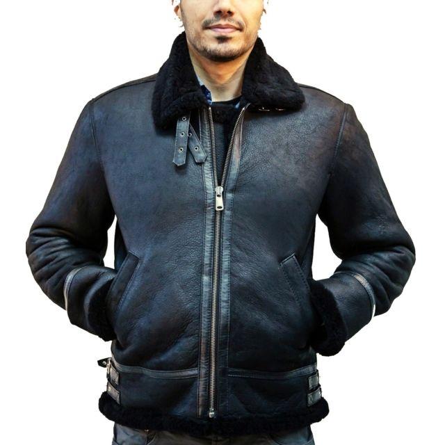 4da9aa4b032f Homme Taille Blouson Xs Fashion Cuir Bombardier Couleur zSqwnItx