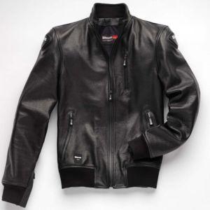 blauer blouson moto cuir indirect homme mi saison t. Black Bedroom Furniture Sets. Home Design Ideas