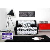 Relaxima - Banquette-lit accordeon Urban - Matelas Dunlopillo