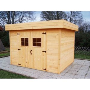 bouvara abri de jardin toit plat 3x4 m pas cher achat vente abris en bois. Black Bedroom Furniture Sets. Home Design Ideas