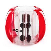 KLARFIT - Bubble Ball Football gonflable pour enfants 75x110cm PVC EN71P - rouge