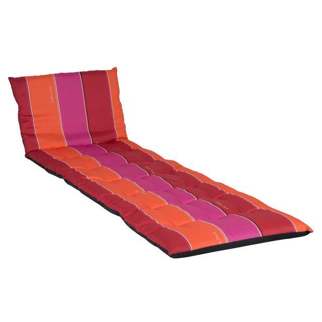 jardin prive coussin pour bain de soleil 100 coton 190x56cm j adore rouge pas cher achat. Black Bedroom Furniture Sets. Home Design Ideas