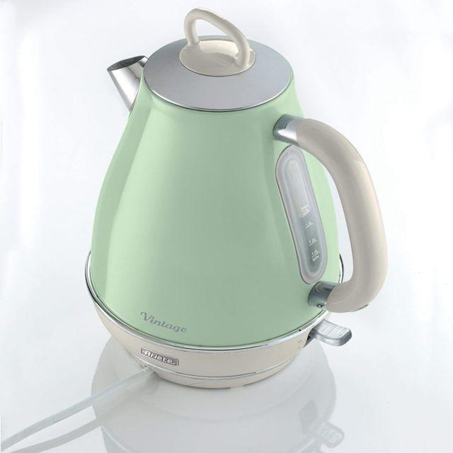Ariete bouilloire électrique de 1,7L sans fil vintage 2000W vert pastel