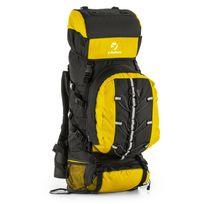 Yukatana - Almer Sac à dos randonnée trekking 80L 40x80x35cm jaune & noir